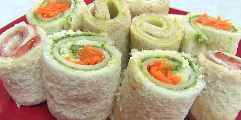pinwheel sandwich recipe | veg pinwheel sandwich recipe