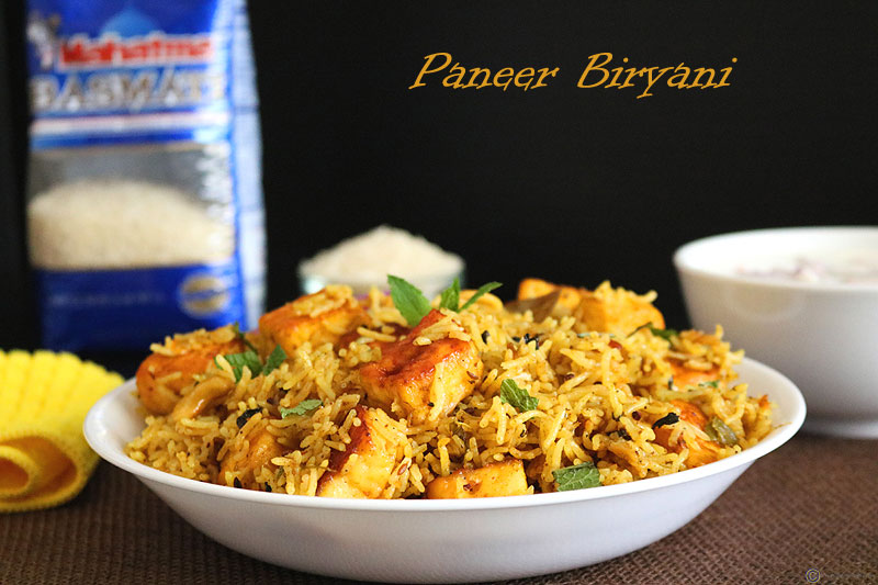 paneer biryani recipe | easy paneer biryani recipe