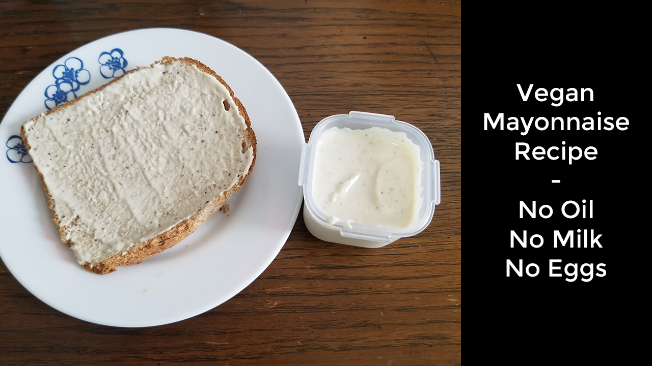 Oil Free & Eggless Mayonnaise In 1 Minute – How To Make Homemade Mayonnaise In A Mixie/Mixer Grinder