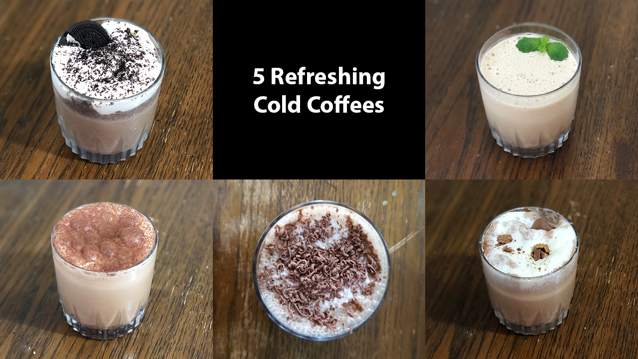 5 Refreshing Cold Coffee   Cold Coffee Recipe   Summer Drinks Recipe   FABFoodies